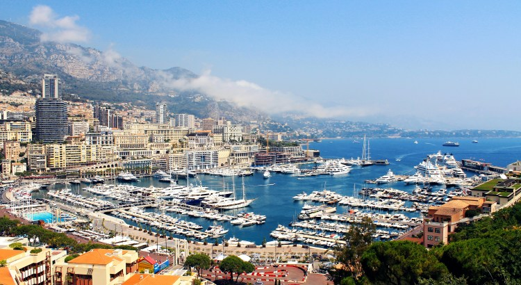 Picture of yachts in Monaco harbour