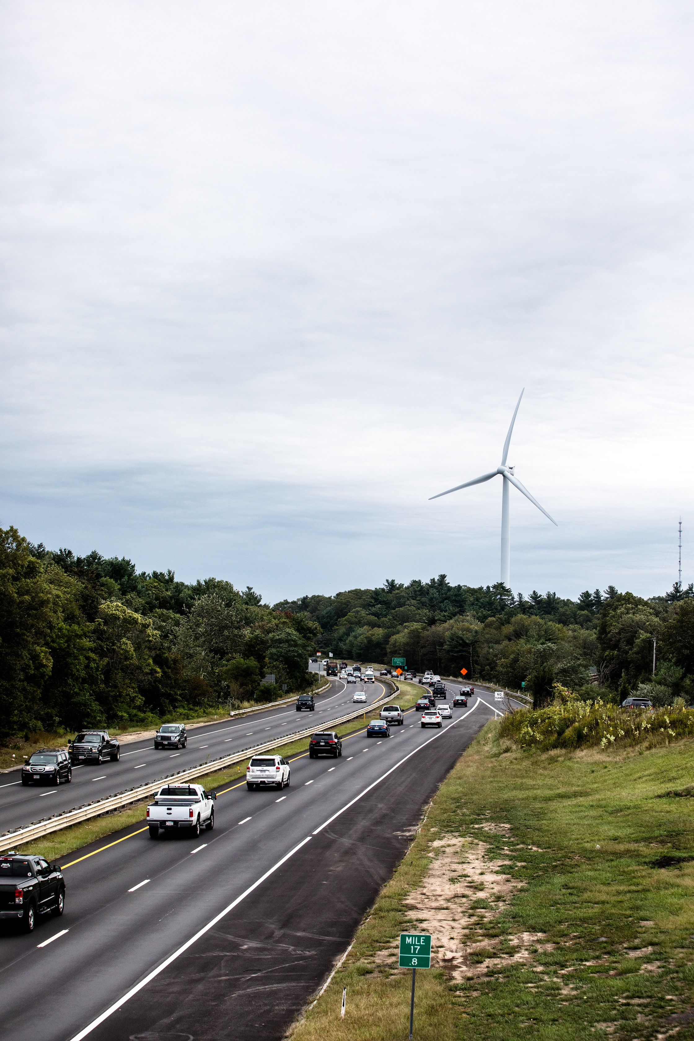 Wind Turbine, Rt. 3 and 3a overpass 1 The Expedition Chris Babu