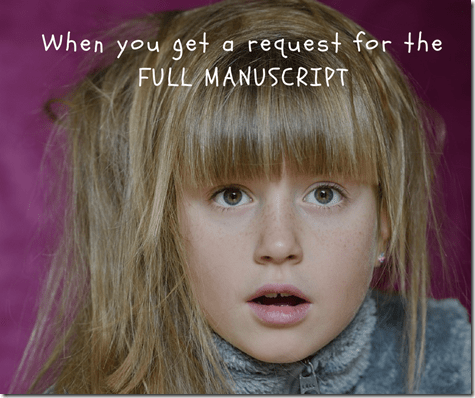 young girl excited to get full manuscript request