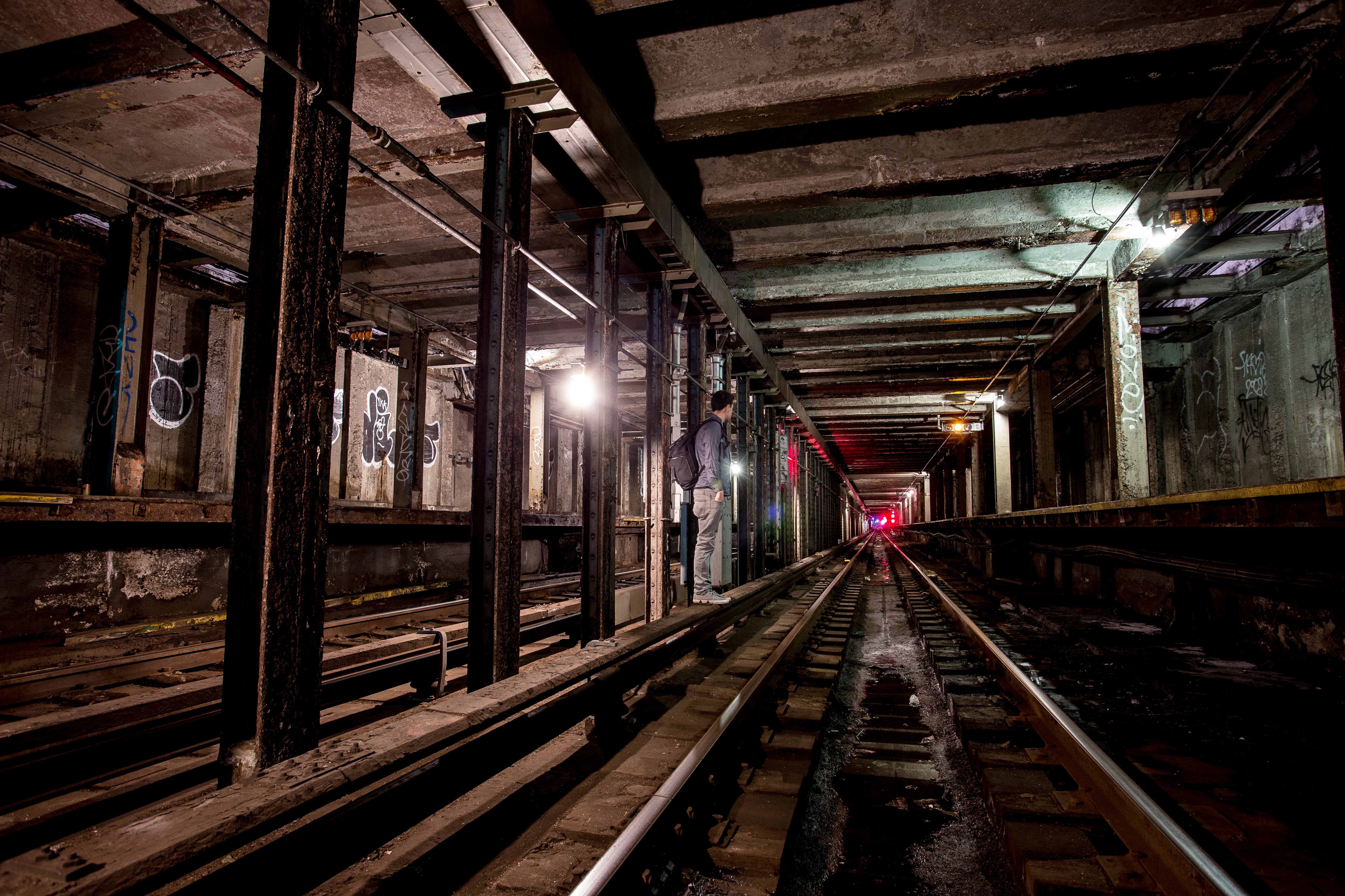 Standing on 3rd rail, abandoned station, The Initiation