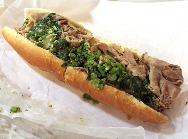 Roast Pork with Provolone and Rabe from DiNic's in Philadelphia, PA