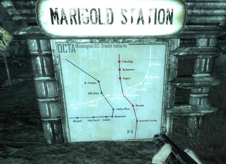 Fallout 3 Subway Map