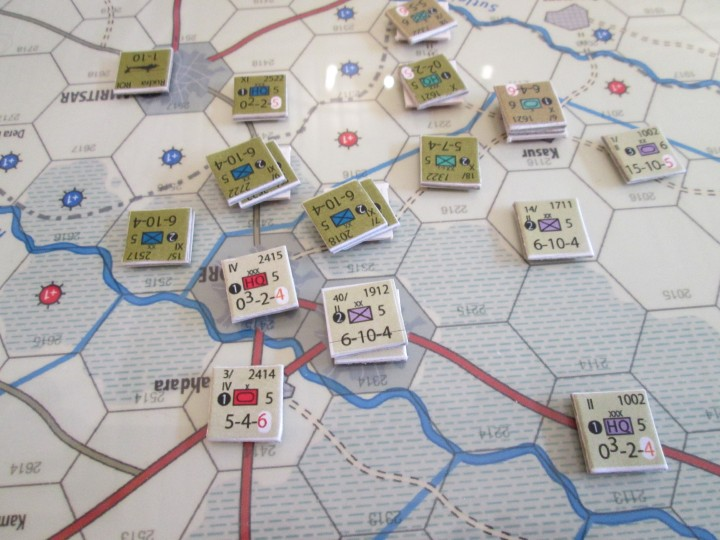 Playtest images from Next War: India-Pakistan; not final graphics
