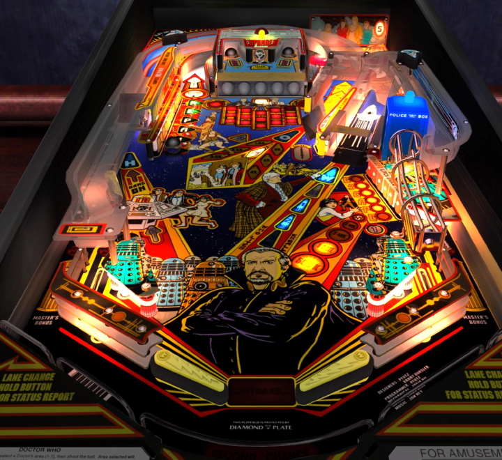 Doctor Who Pinball Table in Pinball Arcade
