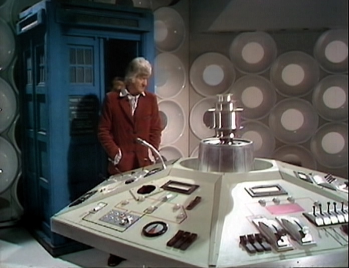 The Doctor's TARDIS inside the Master's TARDIS