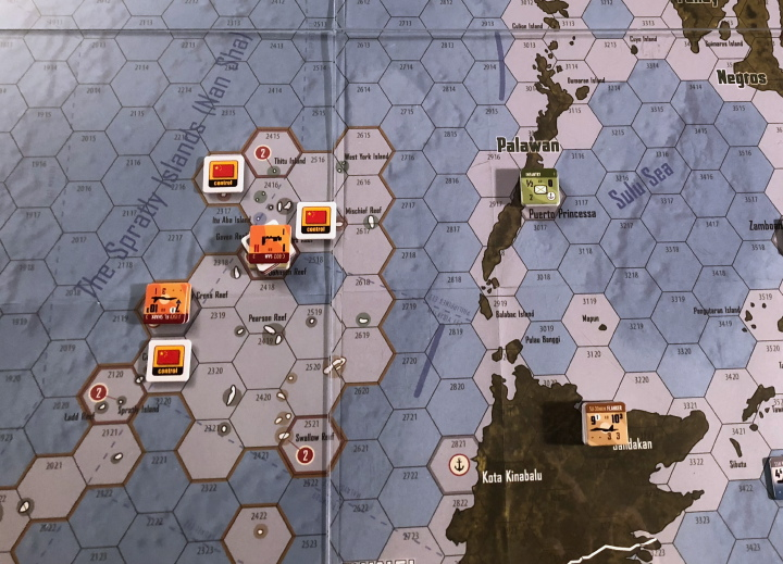 South China Sea by Compass Games: The disputed islets