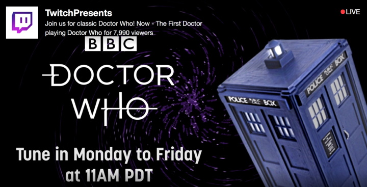 Doctor Who Marathon on Twitch