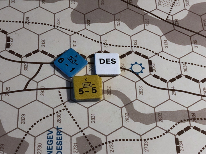 Sinai 1967 Scenario Turn 5 after Arab Combat Phase, Negev Front