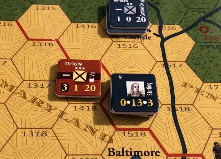 End of Empire, Turn 16, Rousting the Provincials near Baltimore