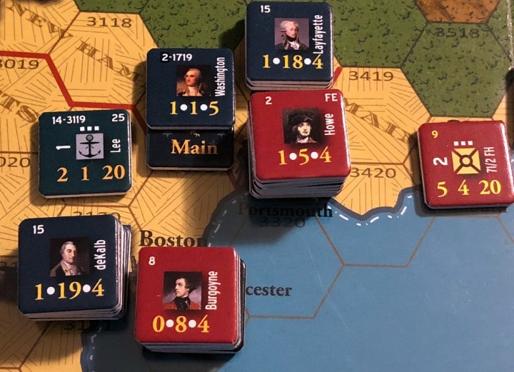 End of Empire, Turn 15, Washington and Howe at Portsmouth