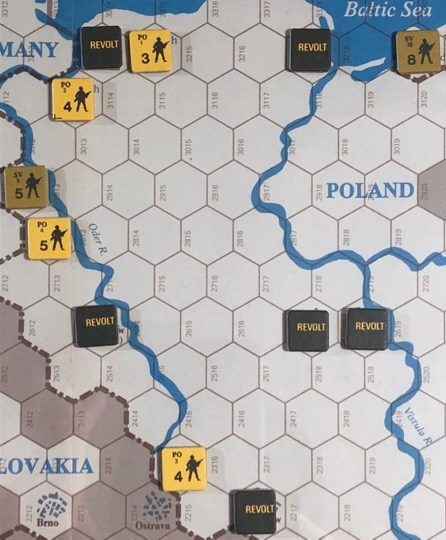 Revolt in the East, Turn 1, Poland revolts