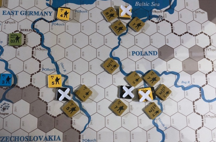 Revolt in the East, Turn 1, Soviet assaults in Poland