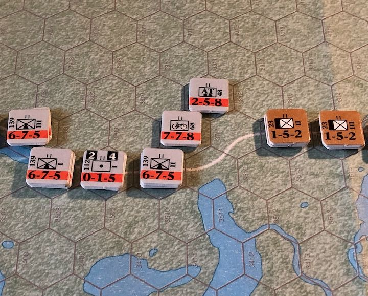 Murmansk 1941, German approach to the Titovka River