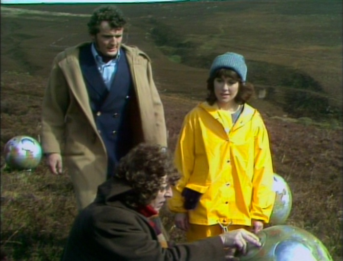 The Fourth Doctor, Harry, and Sarah