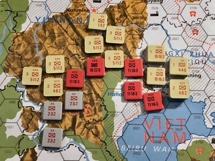 The China War, Objective Hanoi!, Situation End of Turn 1