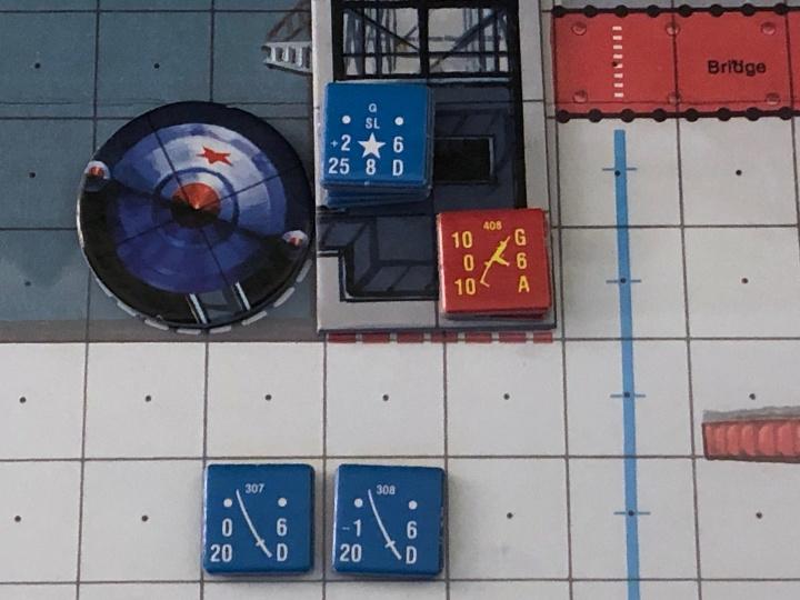 James Bond Assault! Game, Rocket and Gantry Counter Detail