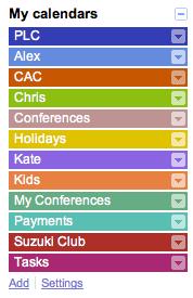 Google Calendar layers