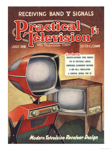 Practical Television, Visions of the Future, Televisions DIY Futuristic Magazine, UK, 1950 Art Print