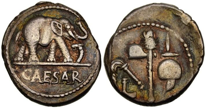Julius Caesar Roman propaganda coins