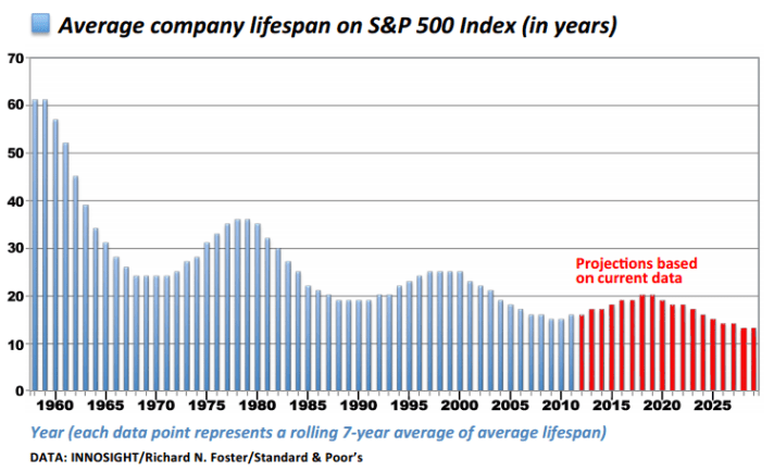 startup disruption and S&P500 turnover rate