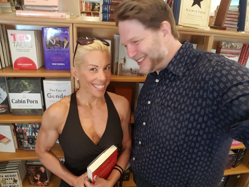 Jacq and Chris at McNally Jackson Books in NYC