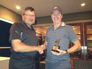 Chriscan Construction Len presenting award to Paul Gadicke