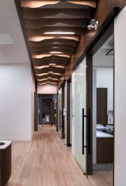 Looking down the hallway from the reception area at Quail Ridge Dental.
