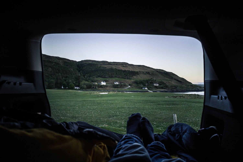 Übernachtung in der Calgary Bay