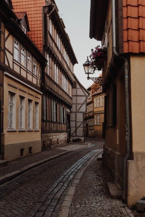 Straße in Quedlinburg