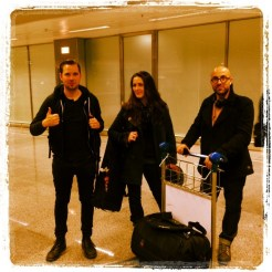 Paul , Anisa and Stephen at Kiev Airport !!