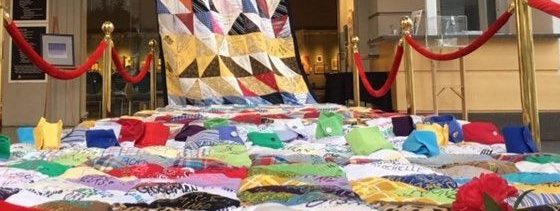 The Victims of Violent Death Quilt stretches more than 70 feet, and has over 800 squares