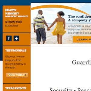 Legashield Website Design