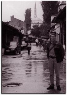 Chris Fitz in Sarajevo in 1996.