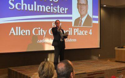 Chris Engages Allen Residents – Public Endorsements Grow