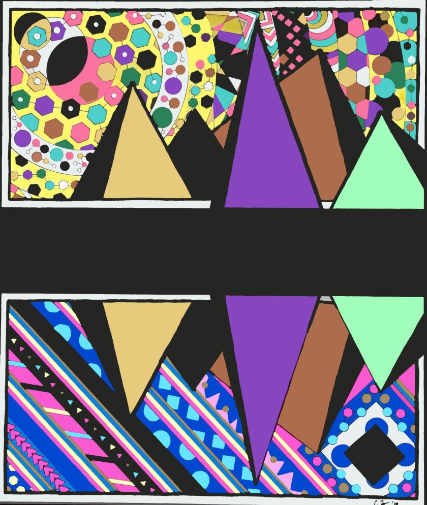 Duality Diptych is an art peice produced by Chris Freyer in 2017