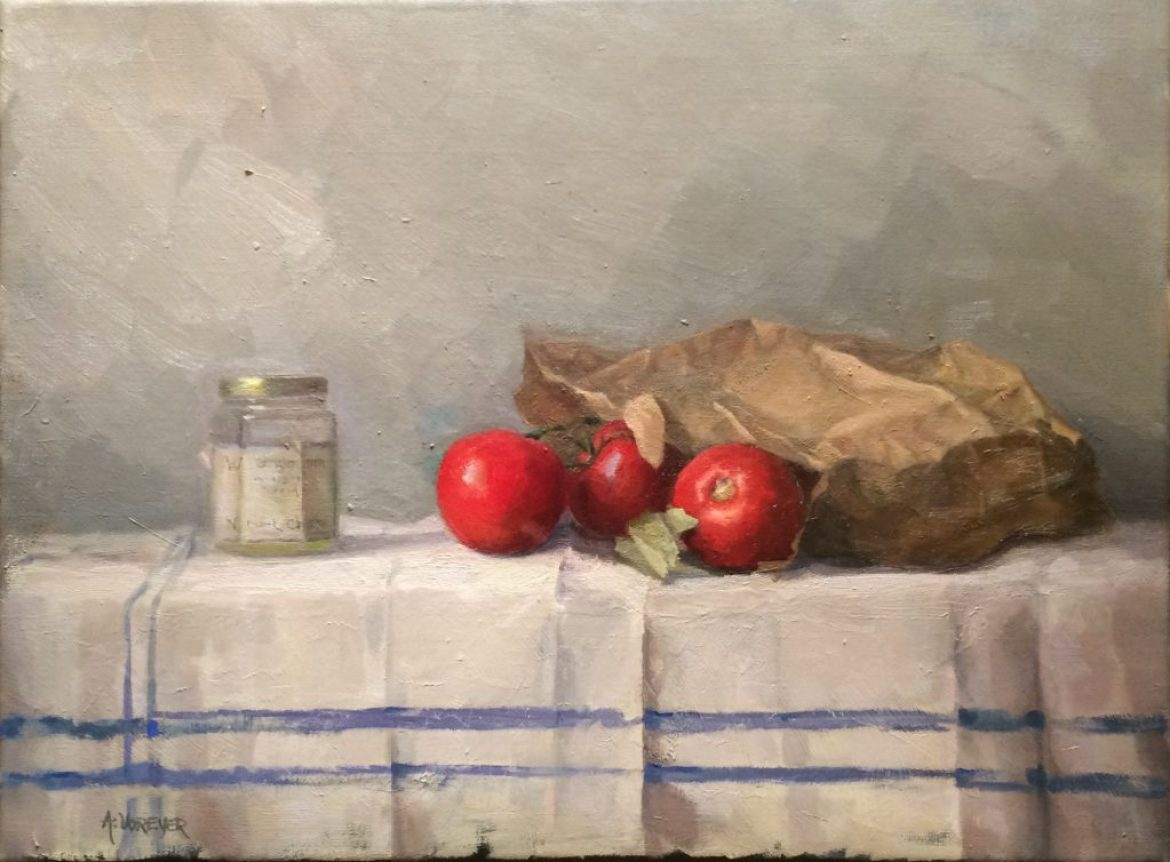 Artist Annette Voreyer Still Life with Tomatoes