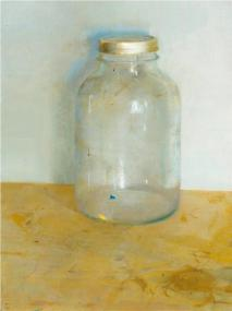 Contemporary Artist Christopher Gallego-American-1959- Bell Jar, 2001-Oil on Board-Private Collection