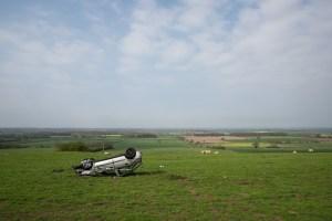 Car in field