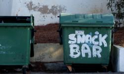 Dustbin snack bar