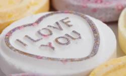 """I love you"" loveheart sweet"