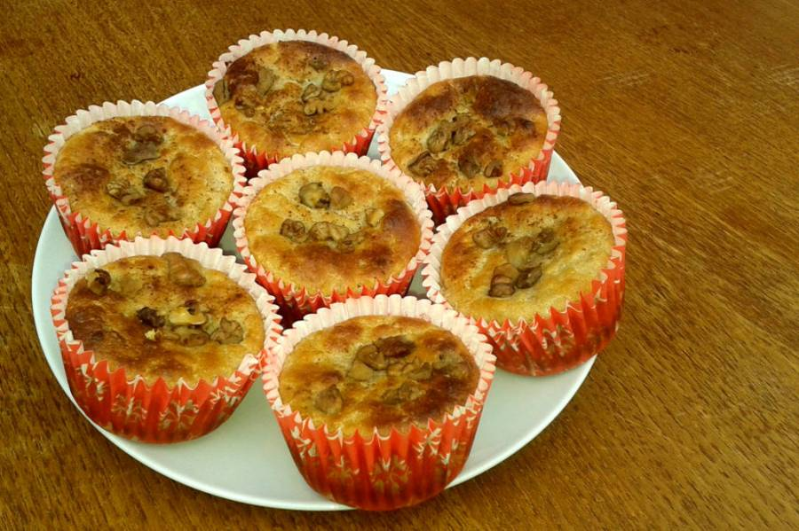 Plate of muffins