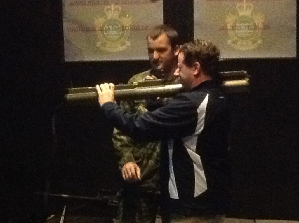 Eric Prud'homme and a rocket launcher