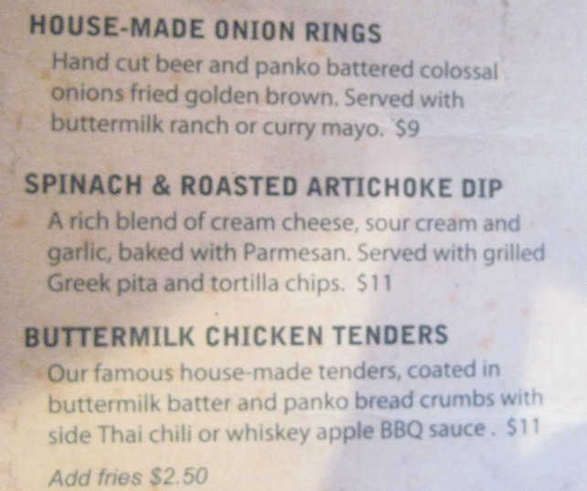 Durty Nelly's - Buttermilk Chicken Tender Menu