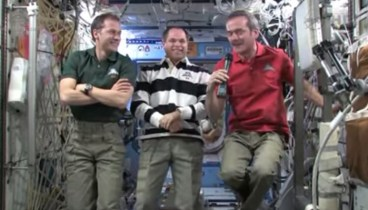 Chris talks weightlessness