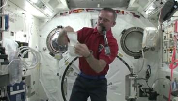 Chris talks getting sick in space