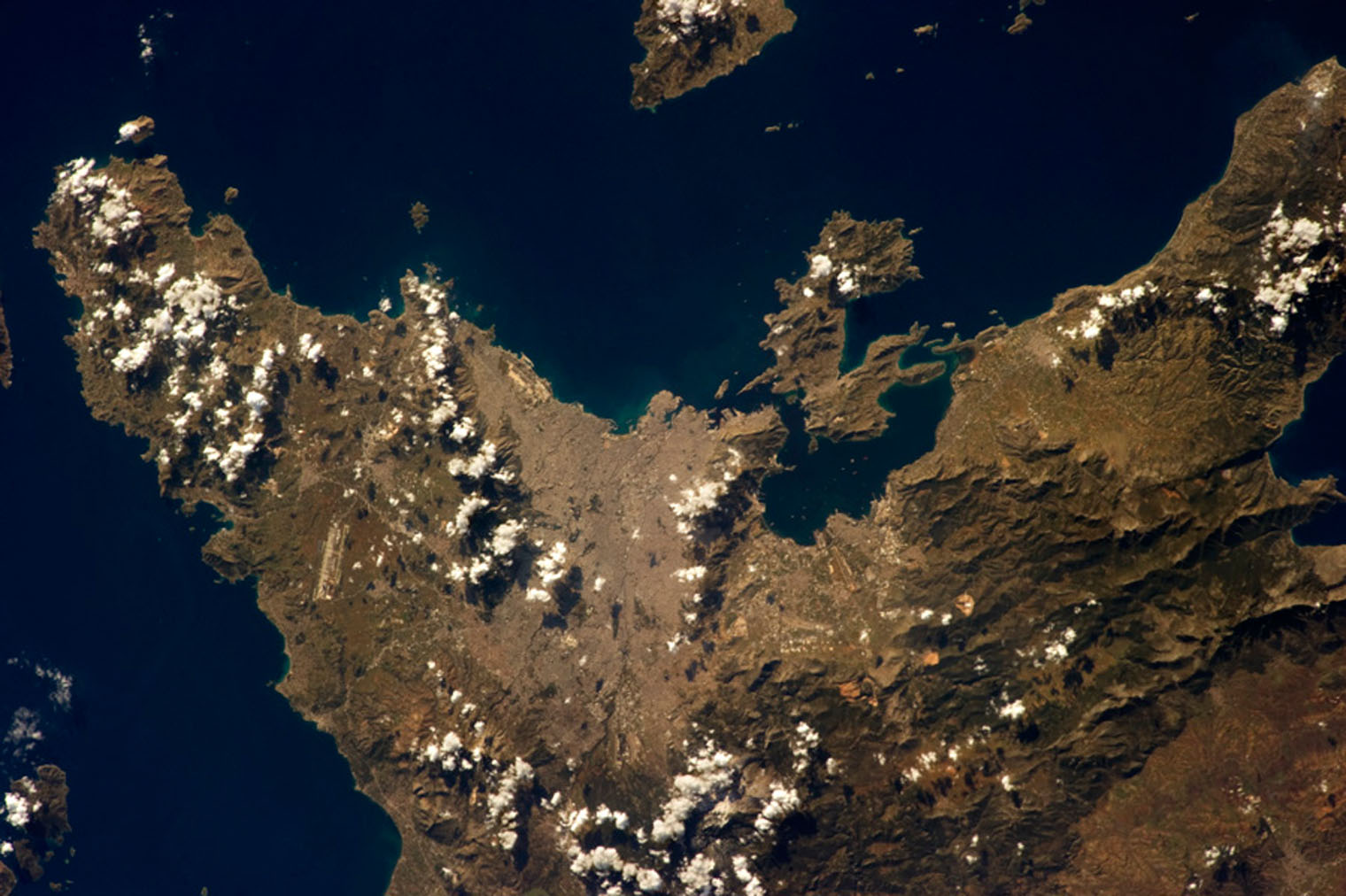 Athens from space