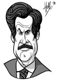 Ron Burgundy caricature. August 30th 2014