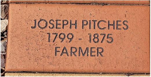 Joseph Pitches Memorial Plaque