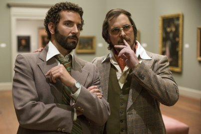 Bradley Cooper and Christian Bale in David O. Russell's American Hustle.