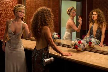Jennifer Lawrence and Amy Adams in David O. Russell's American Hustle.